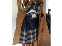 M&S ,unworn, Duffle Coat with peaked hood, and checked wool lining, Age 6 to 7