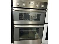 Electrolux stainless steel 60cm wide fully integrated built in double oven fan assisted