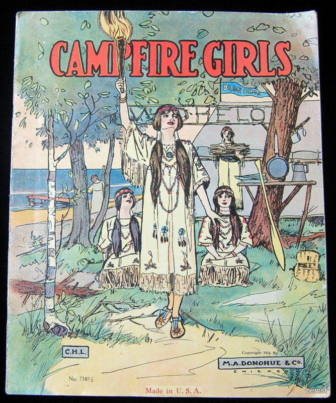 VINTAGE 1916 CAMPFIRE GIRL PICTURE BOOK - NOT SCOUT