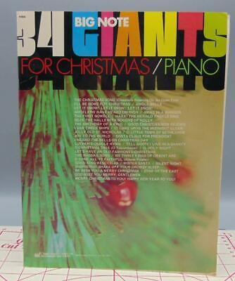 34 Giants For Christmas Sheet Music For Piano Song Collection Vintage Book ()