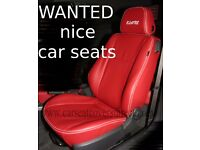 WANTED CAR SEATS. 2 good quality front seats.