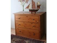 PINE CHEST OF DRAWERS £65