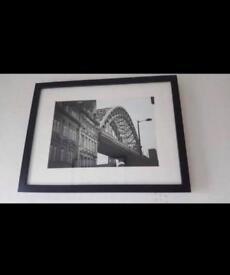 Framed photograph of Newcastle Tyne bridge