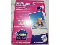 Photo gloss sheets x 2 packets plus joblot cd accessories,