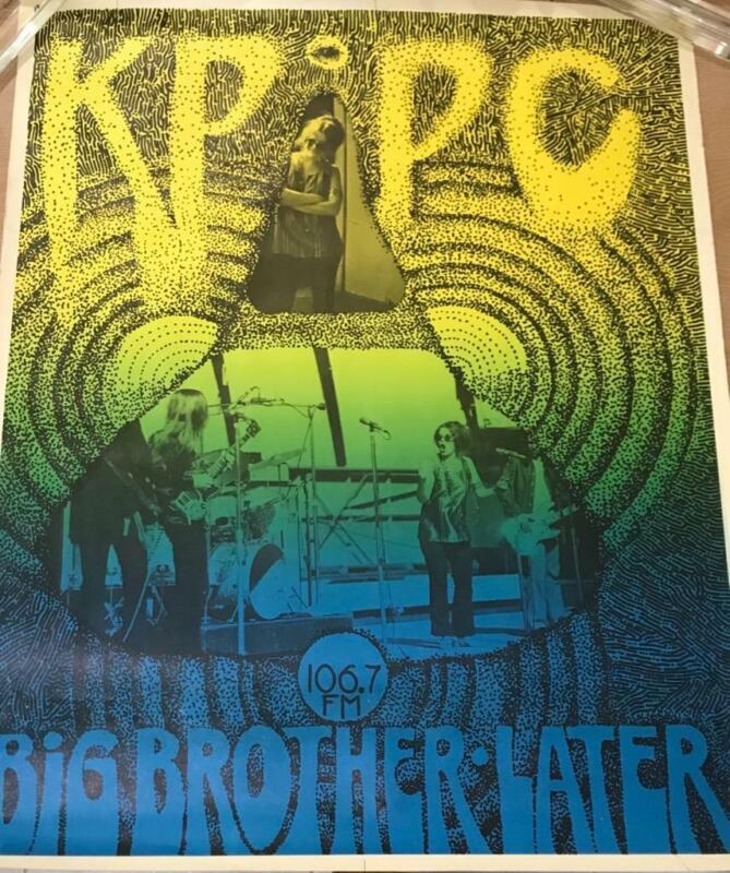 Big Brother and the Holding Company - Original Poster, 1969. KPPC FM
