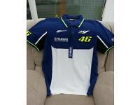 Yamaha VR46 factory racing polo shirt, new