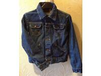 Wrangler Classic Blue Fitted Denim Jacket, Size 12
