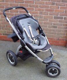 Maxi-Cosi Mura 3 Black Grey Pushchair Single Seat Stroller Buggy