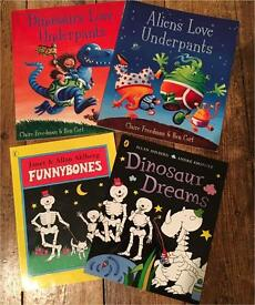 Aliens love underpants, Dinosaurs love underpants, Funny Bones & Dinosaur Dreams books