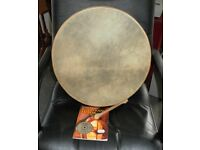 "Bodhran, 18"" with beater and beginners book/cd"