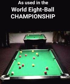 £100 LOWER ASKING PRICE - IRISH POOL WORLD CHAMPIONSHIP TABLE, 7 X 4 ft