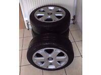 Genuine Audi S4 b5 17'' Alloy , Alloy wheels, with bridgestone tyres,