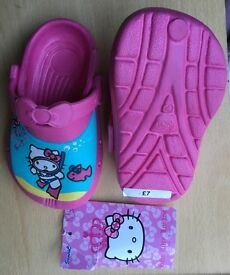New Baby Girls Hello Kitty Pink Sand Shoes (like Crocs) from Marks And Spencer