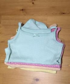 3-6 month strappy vests