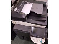 Konica Minolta Colour copier printer scanner, double sided, document feeder 6 months guarantee left