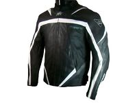 New Rk Sports Road Eagle Grey Leather Motorcycle Jacket WAS £199.99