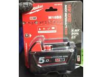 Milwaukee brand new 18v 5Ah battery
