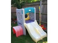 Little Tikes Twin Slide and Mini Climbing frame with tunnel
