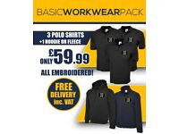 Customized embroidery work wear and clothing you choose