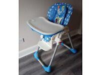 Easy clean high chair