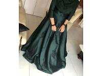 Prom Gown Dress - Emerald Green