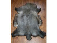 New Luxurious Organic Sheepskin Rug Dark Grey XL