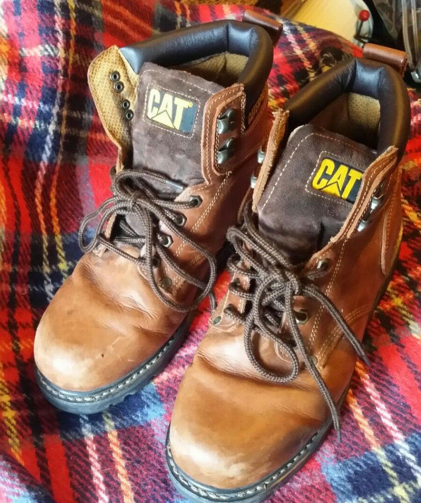 Pair Caterpillar Used Size Boots Of P72365 10 Uk Work In Mens wxY5YqBtr