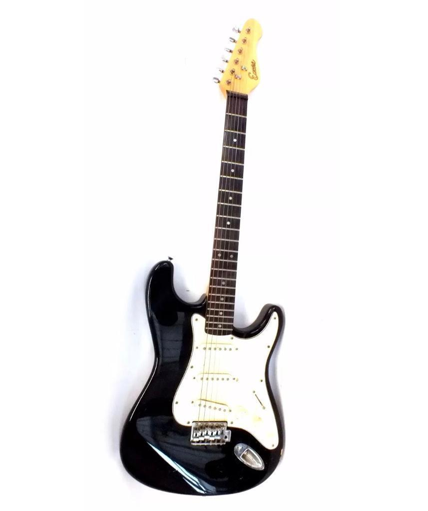 ENCORE Black ELECTRIC GUITAR full size with case