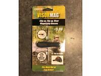 Clip-on Flip-up Visor Magnifying Glass