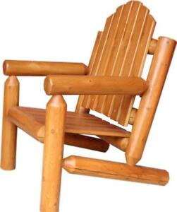 Amish Mennonites Handcrafted White Cedar Log Patio Chair - Free Shipping