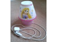 Disney Princess Children's Cool Lamp / Tamper Proof Bedside Light - as New condition.