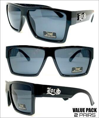 2 PAIRS CLASSIC Hardcore Biker Original Gangster OG LOCS SUN GLASSES Dark (Hip Hop Sunglasses Wholesale)