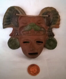 aztec pottery face mask