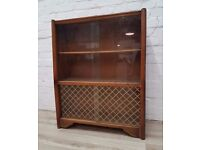 Vintage Bookcase With Glass Doors (DELIVERY AVAILABLE FOR THIS ITEM OF FURNITURE)