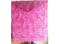 beautiful, pink roman blind, 55 drop, 48 width