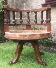 Victorian Swivel Captain's Chair Frame