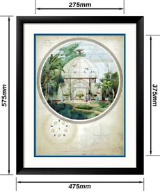 2 framed architectural posters