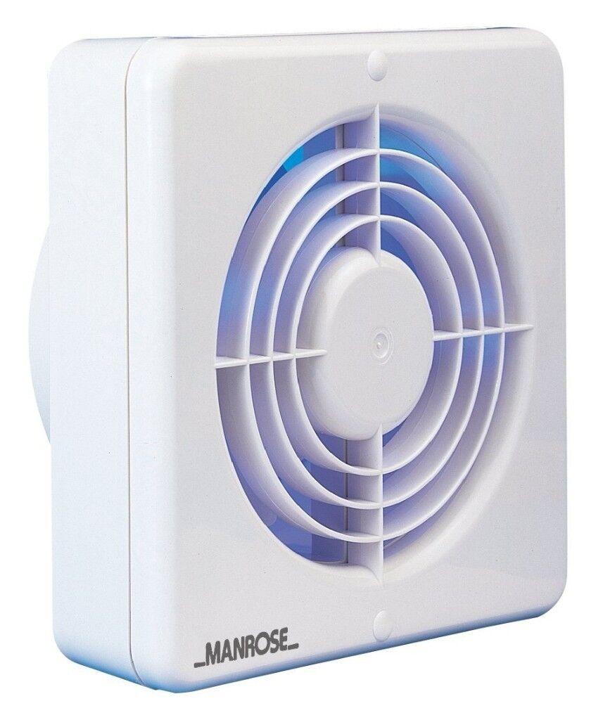 Manrose 100mm Standard Axial Bathroom Fan - NVF100S | in ...