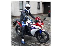 RST Bike leathers, boots, helmet and gloves (BASICALLY NEW)