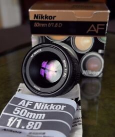 Nikon AF Nikkor 50mm f1.8D Lens - Boxed