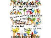Summer nanny available
