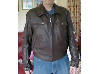 BMW Canyon Motorcycle Bown Leather Jacket eu60 uk50 new
