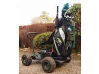 Powakaddy Discovery golf buggy and trailer, sensible offers over £475 considered