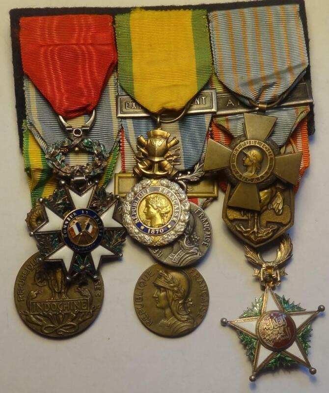 9 FRENCH MEDALS GROUP FRENCH FOREIGN LEGION INDOCHINA