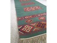Handwoven Indian Cotton Rug / Runner 75cm x 300cm