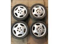 "15"" Mercedes A class set alloy wheels w168 pcd 5x112"