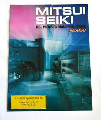 Mitsui Seiki Jidic-h5b High Precision Machining Center Brochure