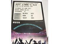 Jeff Lynne's ELO Concert Ticket x1 Wembley London / Saturday 24 June 2017 / £40.00 o.n.o