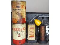 Vintage automotive Redex additive and accessories