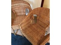 IKEA STACKABLE RATTAN CHAIRS X2
